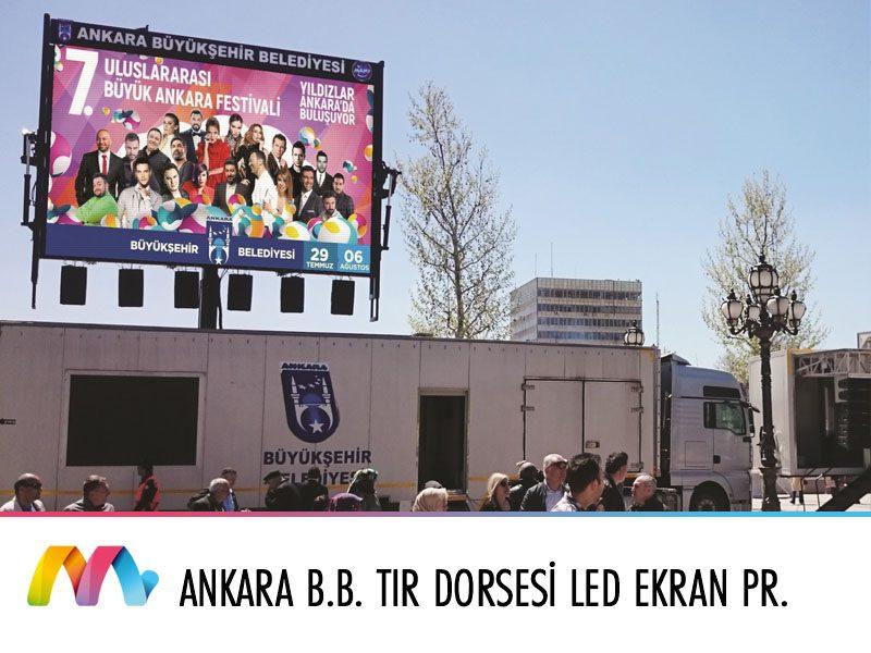 Ankara Büyükşehir Belediyesi Tır Dorsesi LED Ekran Uygulaması