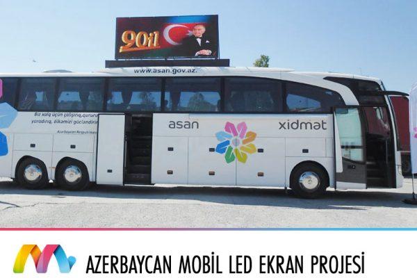 Azerbaycan Otobüs üstü LED Ekran Uygulaması