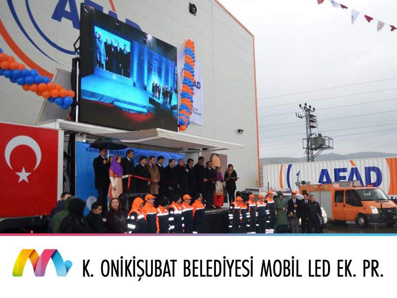 Kahramanmaraş Onikişubat Belediyesi  Mobil LED Ekranlı Sahne Projesi