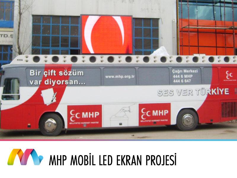 MHP Otobüs üstü LED Ekran Uygulaması
